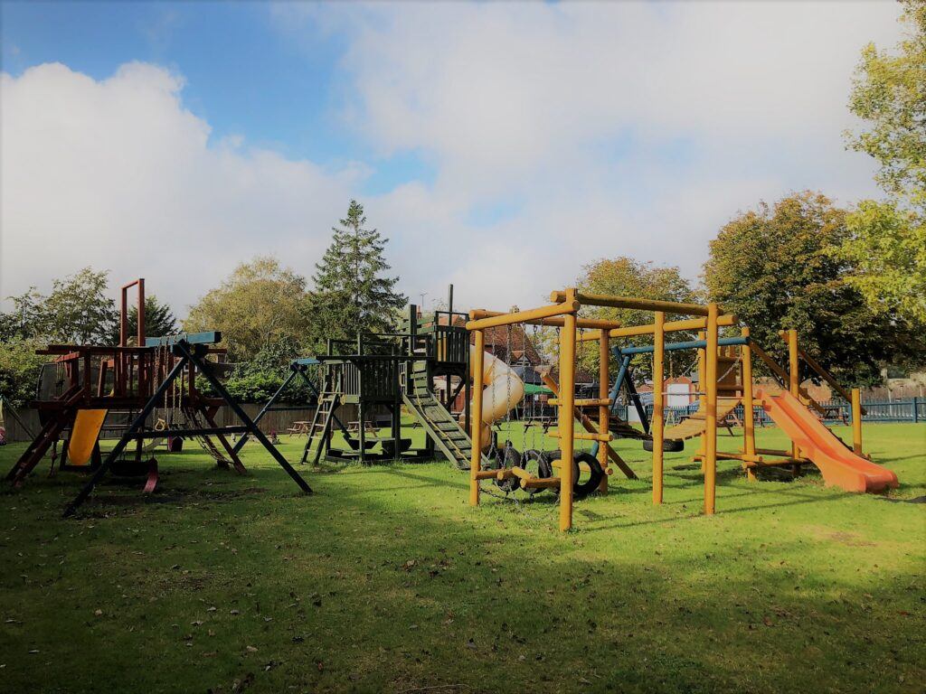 large beer garden and childrens play area Anchor Pub Tilsworth