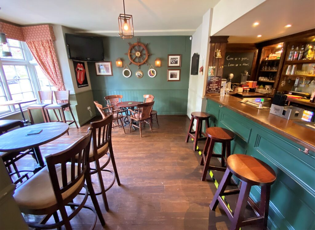 interior of bar Anchor Pub Tilsworth