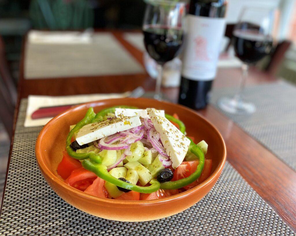 Greek salad Anchor Pub Tilsworth